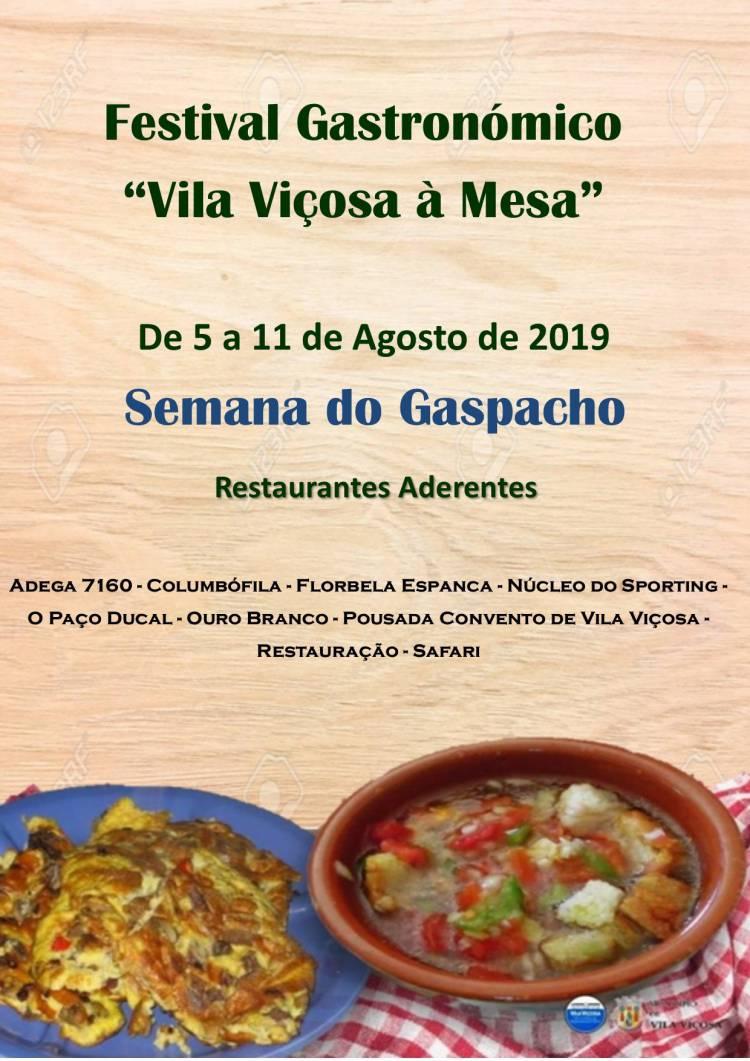 Semana do Gaspacho em Vila Viçosa de 5 a 11 de agosto