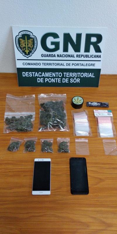 GNR de Ponte de Sôr deteve homem de 34 anos por tráfico de droga