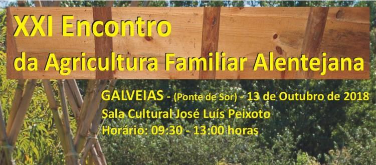 """Galveias receberá 21.ª edição do """"Encontro da Agricultura Familiar Alentejana"""""""
