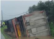 Acidente: Despiste de Pesado de mercadorias levou ao corte da EN257. Circulação já está retomada