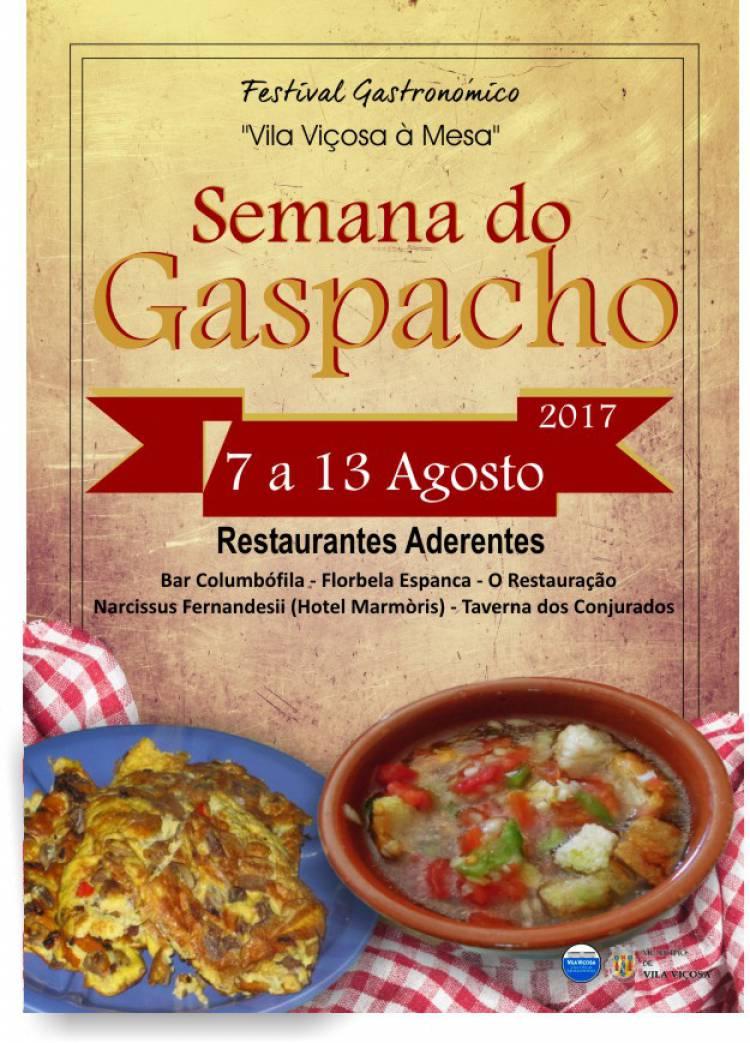 De 7 a 13 de agosto Vila Viçosa recebe a Semana do Gaspacho