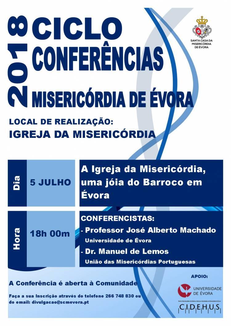 """Misericórdia de Évora promove conferência """"A Igreja da Misericórdia, uma Jóia do Barroco em Évora"""""""