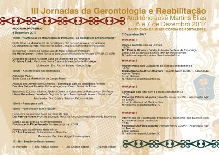 Misericórdia de Portalegre promove II Jornadas da Gerontologia e Reabilitação