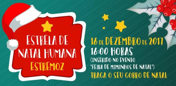 Estremoz promove construção de estrela de Natal humana
