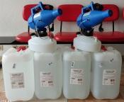 Bombeiros de Borba recebem 2 máquinas e 100 litros de desinfetante