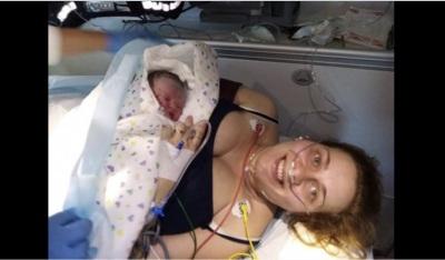 Carminho decidiu nascer junto a Localidade da Vendinha com a ajuda dos bombeiros de Mourão