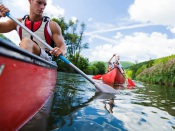 Pista de canoagem da Mina de S. Domingos utilizada para estágio de seleções