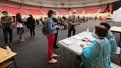 Covid 19 - 600 vacinas por dia administradas no Centro de Vacinação COVID19 na Arena de Évora