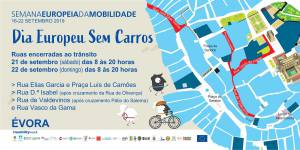 Ruas vedadas ao trânsito automóvel no Centro Histórico de Évora no final da Semana Europeia da Mobilidade