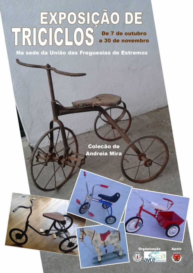 União de Freguesias de Estremoz recebe exposição de triciclos