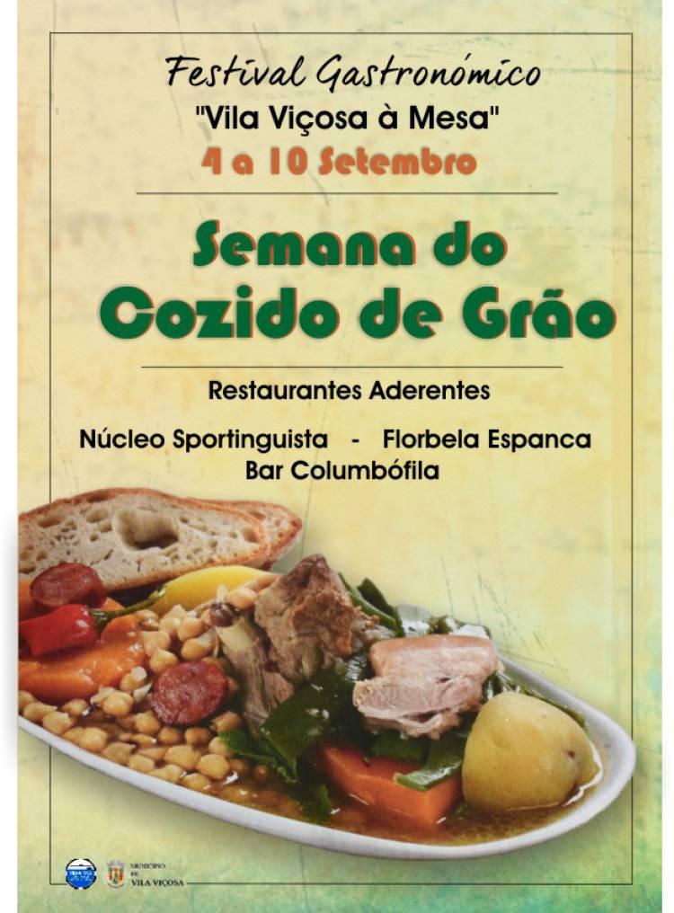 """Já decorre a Semana do Cozido de Grão no Festival Gastronómico """"Vila Viçosa á Mesa"""""""