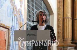 """Ministra da Cultura anuncia """"aprovação da candidatura para reabilitar os frescos"""" do Mosteiro de S. Bento de Cástris em Évora (c/som)"""