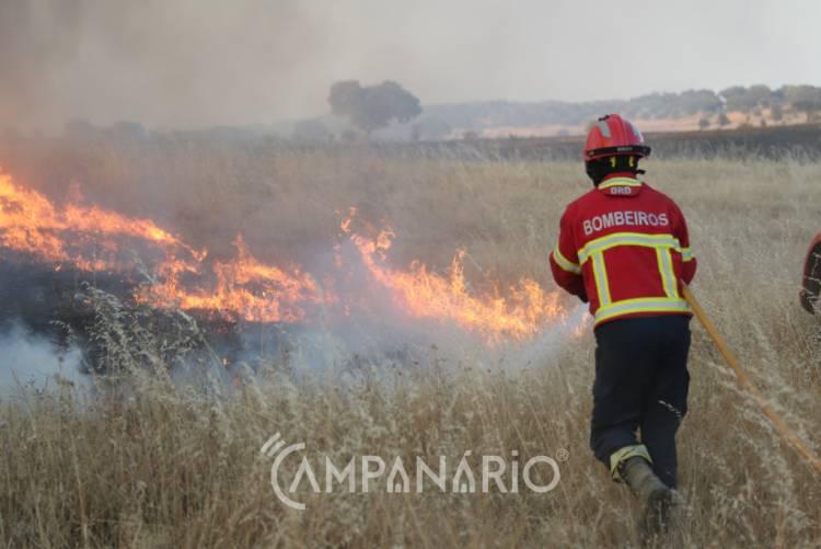 Mais de 2 dezenas de operacionais combatem incêndio no concelho de Moura