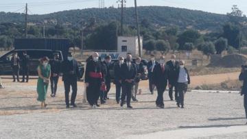 Presidente da república visitou hoje o Santuário da Senhora Aires em Viana do Alentejo