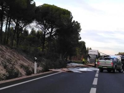 Despiste de veículo pesado de mercadorias condicionou trânsito entre Grândula e Alcácer do Sal