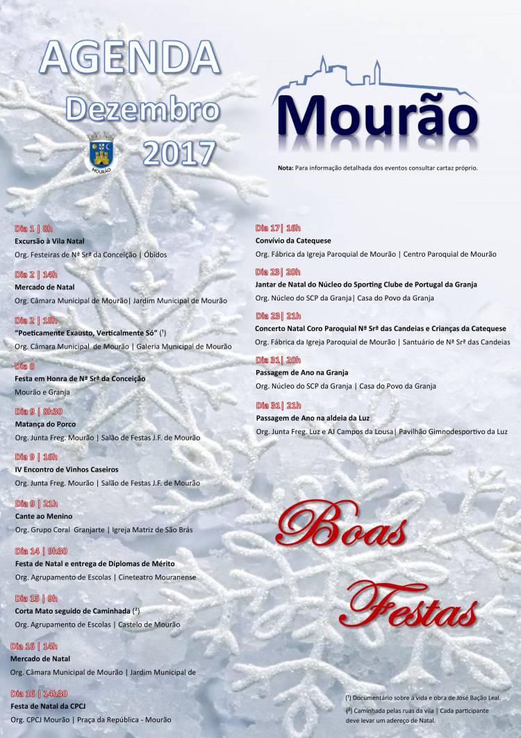 Concelho de Mourão com várias actividades em Dezembro. Veja o programa