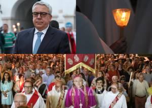 """Milhares de pessoas participaram na secular Procissão dos Pendões. Arcebispo de Évora diz que """"esta festa é o ponto de união dos elvenses"""" (c/som e fotos)"""
