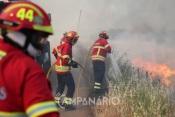 Incêndio no concelho  de Fronteira mobiliza 1 meio aéreo e mais de 30 bombeiros