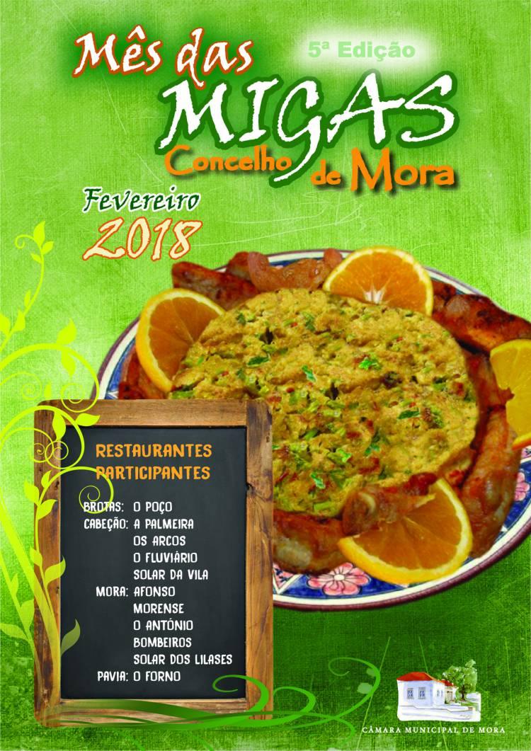 Concelho de Mora celebra o mês das Migas