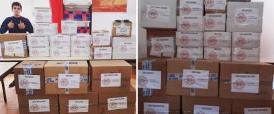 Associação Portuguesa de Bombeiros Voluntários entrega de EPI e Desinfetante aos Bombeiros do Distrito de Portalegre
