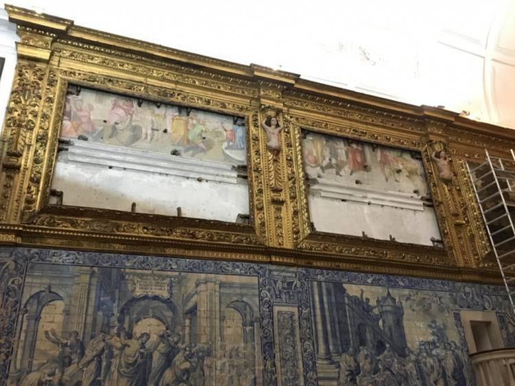 """Obras na Igreja da Misericórdia de Évora puseram a descoberto frescos com 400 anos """"da igreja original"""", diz Arcebispo de Évora (c/som)"""