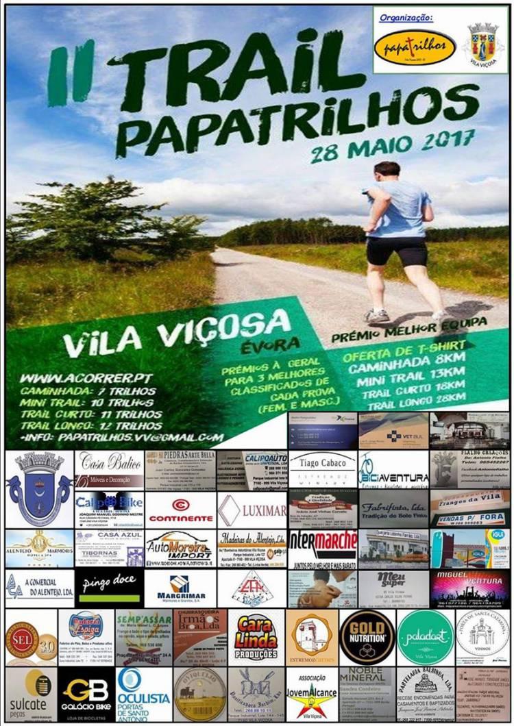 Vila Viçosa recebe domingo II Trail PapaTrilhos