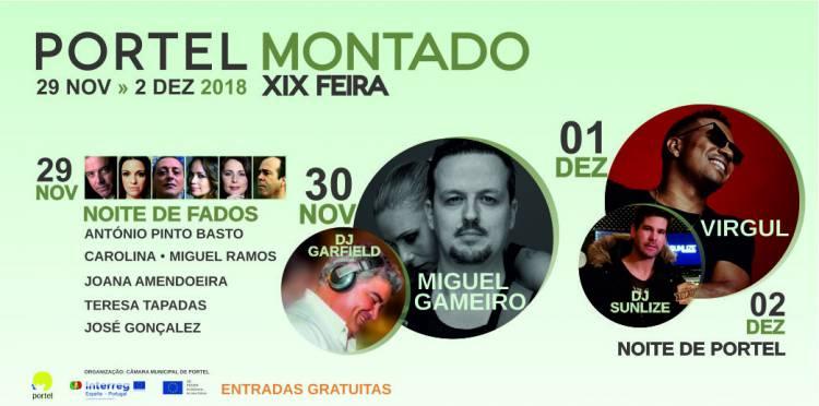 Miguel Gameiro e Virgul na XIX Feira do Montado de Portel (c/programa)