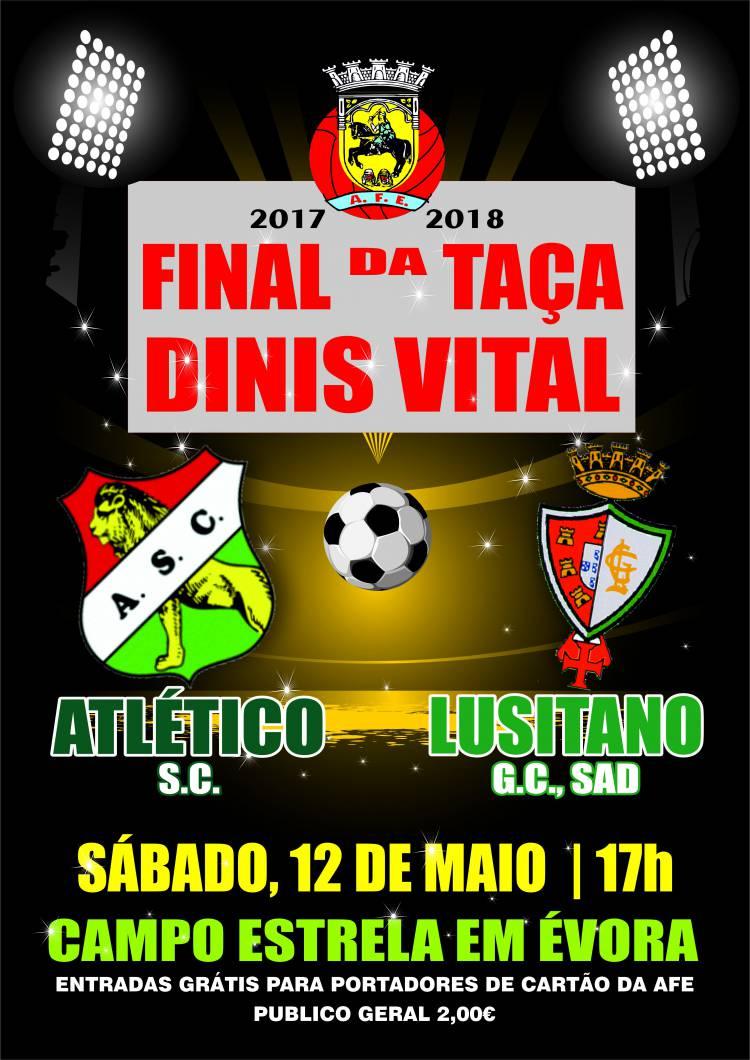 Atléticos e Lusitano defrontam-se na final da Taça Distrital de Évora