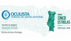 Consumidores voltam a eleger Oculistas Portas de Santo António para prémio cinco estrelas regiões