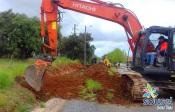 Sousel - Já avançam as obras de requalificação da entrada de Santo Amaro
