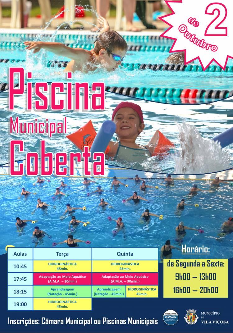 Piscina Municipal Coberta de Vila Viçosa reabre a 2 de Outubro