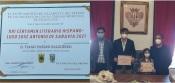 Calipolense Tiago Salgueiro recebe diploma do 1º Prémio- Certame Literário Luso-Espanhol José António de Saravia