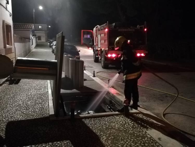 Cinzas de lareiras e braseiras provocam incêndio em contentor subterrâneo de Vila Viçosa