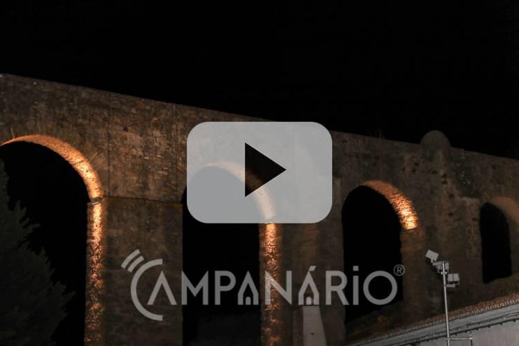 Veja em vídeo a inauguração da iluminação do Aqueduto da Água de Prata em Évora