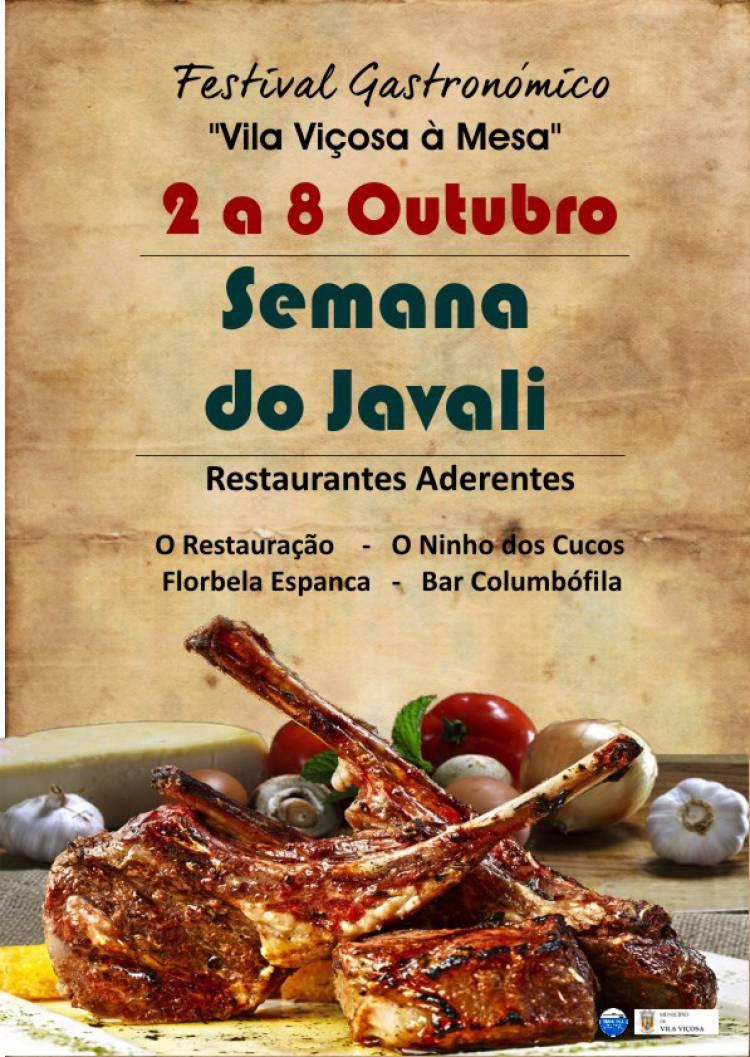 Vila Viçosa celebrará a Semana do Javali