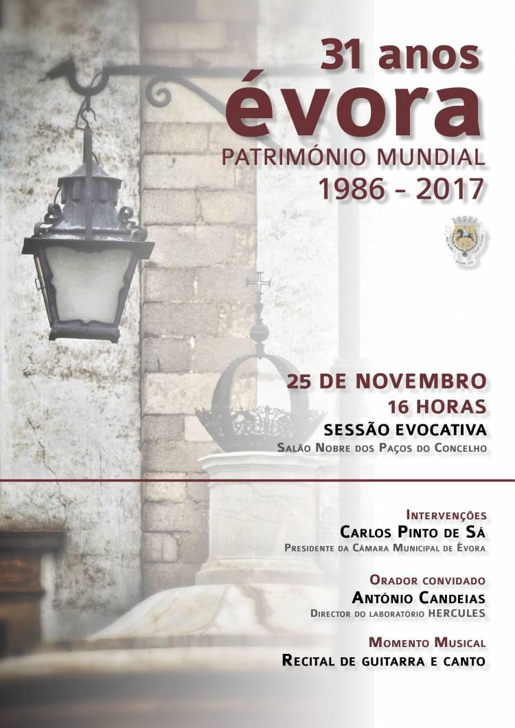 Évora comemora 31 anos de Património Mundial este sábado