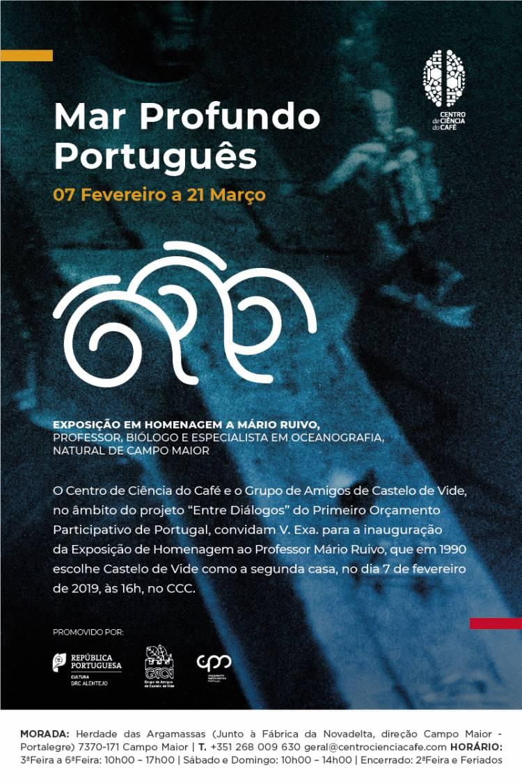 """Exposição """"Mar Profundo Português"""" no Centro de Ciência do Café"""