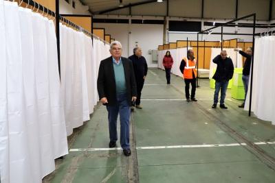 Grândola: Está pronto o centro de acolhimento no pavilhões do Parque de Feiras,para resposta polivalente ao COVID 19