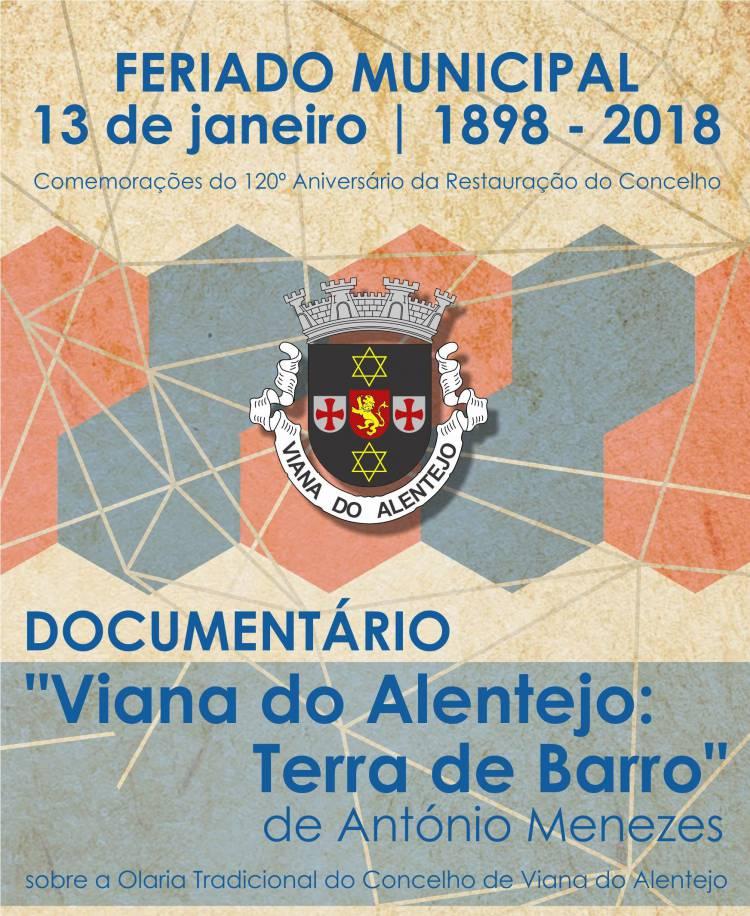 """Viana do Alentejo apresenta documentário """"Viana do Alentejo: Terra de Barro"""","""