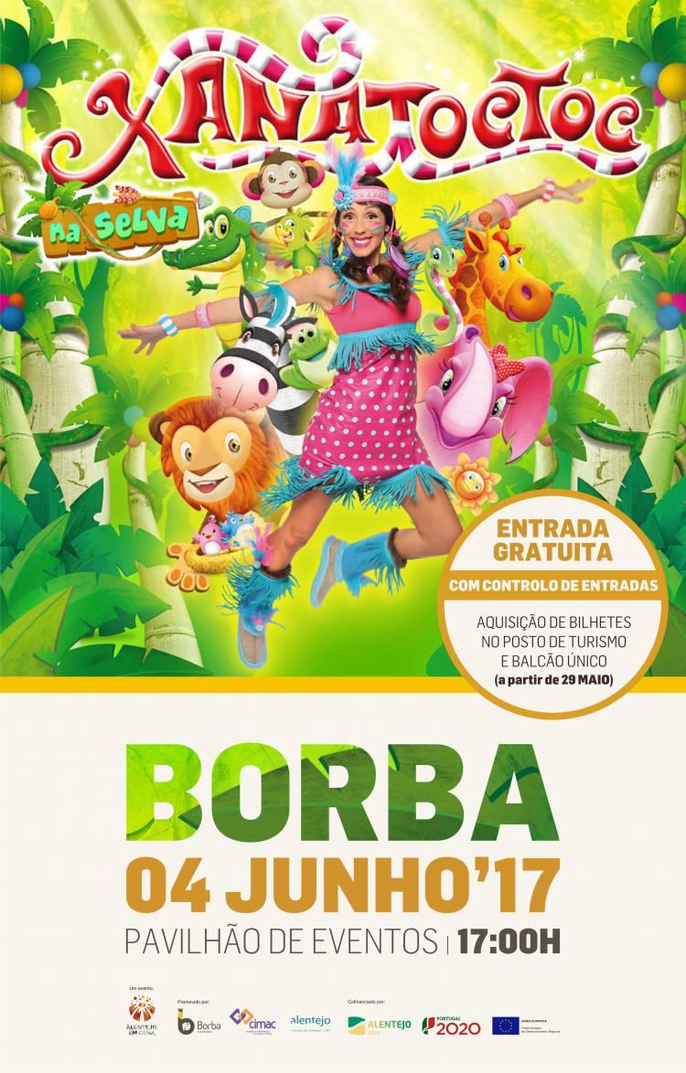 Dia Mundial da Criança terá Xana Toc Toc em Borba no dia 4 de Junho