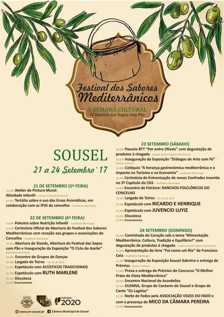 Sousel receberá Festival dos Sabores Mediterrânicos de 21 a 24 de setembro