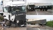 EN4 continua cortada após despiste de camião que provocou 1 ferido. A RC mostra-lhe as imagens