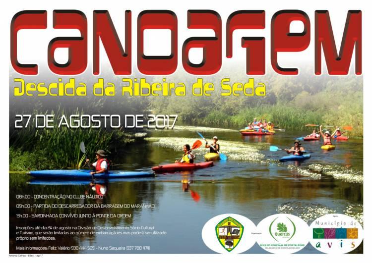 Descida da Ribeira de Seda em canoa a 27 de Agosto