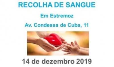 Recolha de sangue em Estremoz no próximo sábado