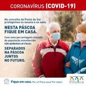 """Covid-19: Município de Ponte de Sor lança campanha de sensibilização para que """"não venha nesta Páscoa"""" para aquele concelho"""