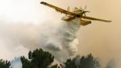 3 Meios aéreos e 100 bombeiros no combate a incêndio de grandes dimensões no concelho de Sousel