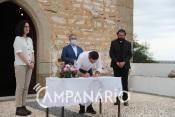 """""""É uma grande alegria que o Santuário de Nª Sra. da Boa Nova, em Terena, seja preservado para as gerações vindouras"""", diz presidente da Confraria (c/som)"""