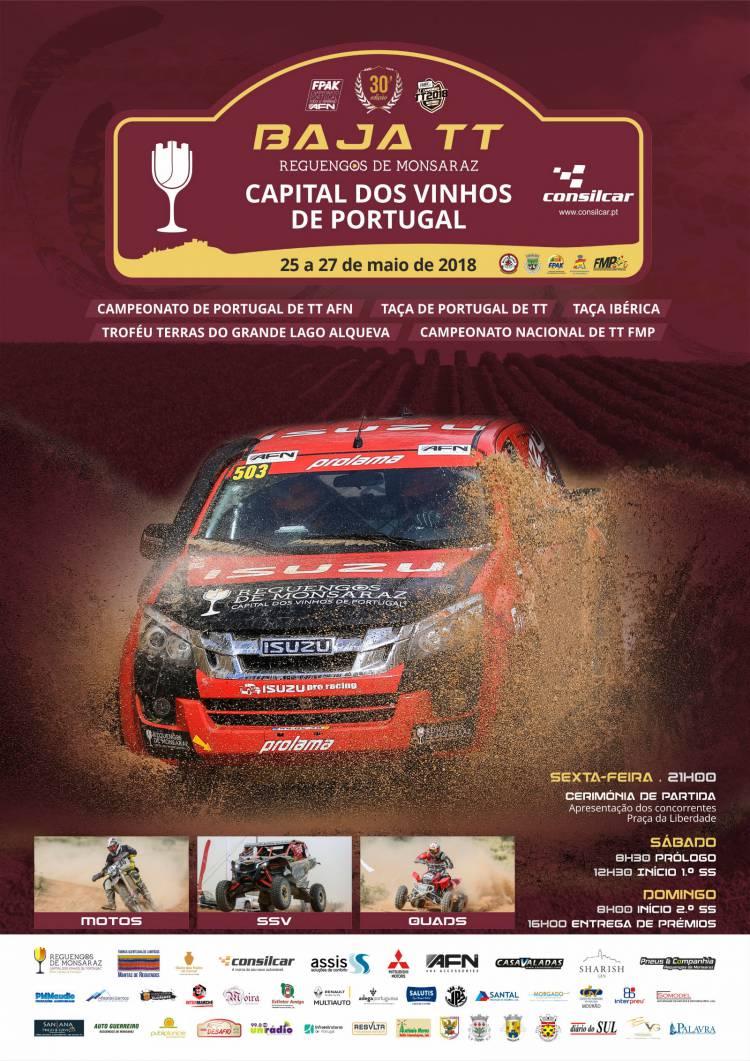 Baja TT Reguengos de Monsaraz Capital dos Vinhos de Portugal arranca esta sexta-feira