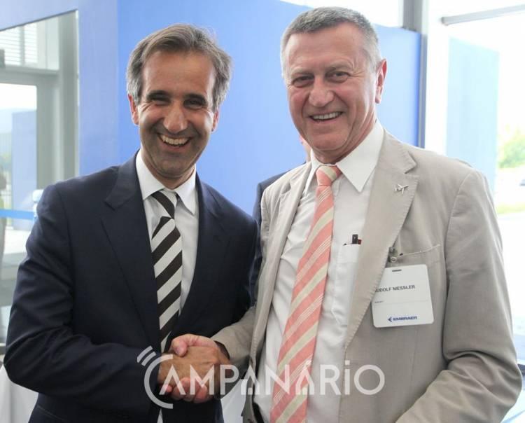 """Embraer tem 23 milhões de euros da UE para investir em """"novas tecnologias"""" (c/som e fotos)"""