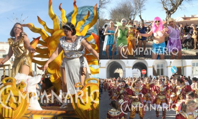 Tarde de sol, cor e animação para os milhares de foliões do grandioso desfile do Carnaval Internacional de Elvas. A RC mostra-lhe as imagens